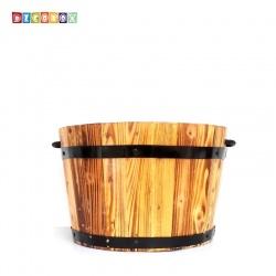 DecoBox鄉村風松木桶( 花盆套.花架)