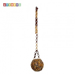 DecoBox峇里島三色藤球型吊燈(16公分-2個)-不含燈泡線材,不含拍攝用的裝飾品(球燈,宴王)