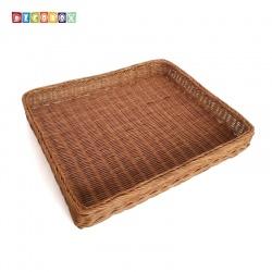 DecoBox鄉村風大長方麵包籃(2個)(麵包盤, 備品籃, 收納雜物籃,毛巾籃)