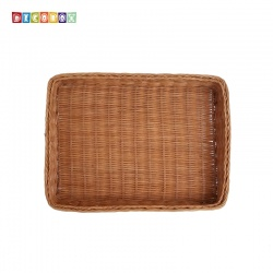 DecoBox鄉村風小長方麵包籃(2個)(麵包盤, 備品籃, 收納雜物籃,毛巾籃)
