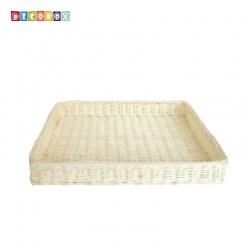 DecoBox自然風大長方麵包籃(2個)(麵包盤, 備品籃, 收納雜物籃,毛巾籃)