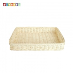 DecoBox自然風小長方麵包籃(2個)(麵包盤, 備品籃, 收納雜物籃,毛巾籃)