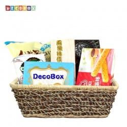 DecoBox自然風海草長方盒(2個)(拖鞋籃, 備品籃, 收納雜物籃)