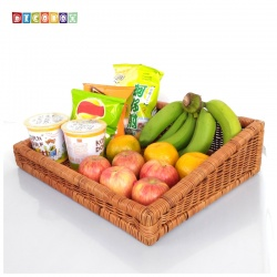 DecoBox鄉村風編織盤673(2個)(麵包盤, 備品籃, 收納雜物籃,毛巾籃)
