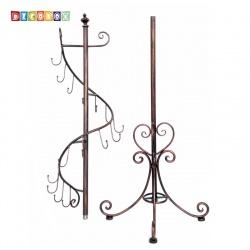 DecoBox古銅鍛鐵螺旋衣帽架(掛衣架,外套衣架,吊衣架,勾架,家飾,吊飾)