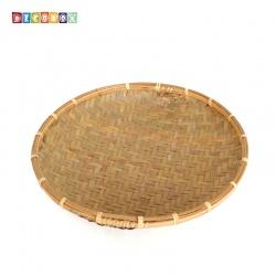 DecoBox日曬用薄竹盤(30公分-5個)(竹編織盤.乾阿.湯圓篩.洗菜籃.黑蒜頭.竹篩)