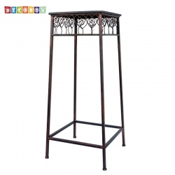 DecoBox心語古銅方形大花架 (羅馬柱,走道花鐵架,展示架)