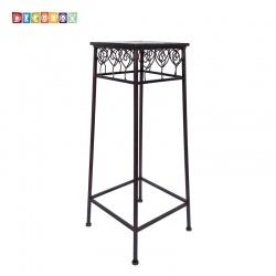 DecoBox心語古銅方形中花架 (羅馬柱,走道花鐵架,展示架)