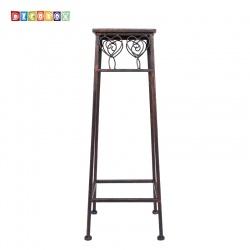 DecoBox心語古銅方形小花架 (羅馬柱,走道花鐵架,展示架)