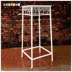 DecoBox心語白色方形大花架 (羅馬柱,走道花鐵架,展示架)