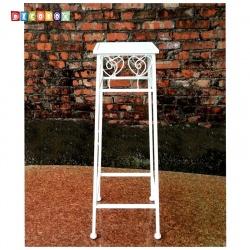 DecoBox心語白色方形小花架 (多肉花架,羅馬柱,走道花鐵架,展示架)