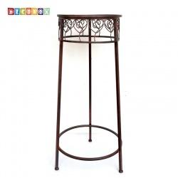 DecoBox心語古銅圓形大花架 (多肉花架,羅馬柱,走道花鐵架,展示架,北歐工業風)