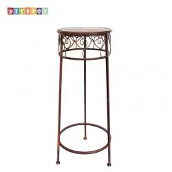DecoBox心語古銅圓形中花架 (多肉花架,羅馬柱,走道花鐵架,展示架,北歐工業風)