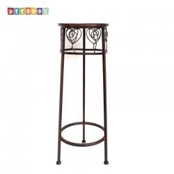 DecoBox心語古銅圓形小花架 (多肉花架,羅馬柱,走道花鐵架,展示架,北歐工業風)
