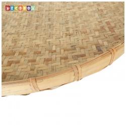 DecoBox日曬用厚竹盤(直徑120高8公分-1個)(抓週竹盤,搖元宵,搓湯圓,柑阿,乾阿,米苔,米篩)