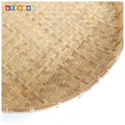 DecoBox日曬用厚竹盤(直徑100高8公分-1個)(抓週竹盤,搖元宵,搓湯圓,柑阿,乾阿,米苔,米篩)