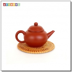 DecoBox藤編圓形杯墊(14公分-5個)(宴王,茶道,茶具,插花墊)