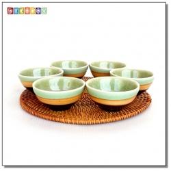 DecoBox藤編圓形杯墊(20公分-5個)(宴王,茶道,茶具,插花墊)