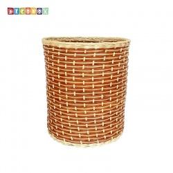 DecoBox鄉村風藤編大收納桶(垃圾桶, 盆套,法國麵包盤,備品籃,收納雜物)