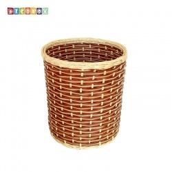 DecoBox鄉村風藤編中收納桶(垃圾桶, 盆套,法國麵包盤,備品籃,收納雜物)
