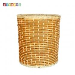 DecoBox自然風藤編大收納桶(垃圾桶, 盆套,法國麵包盤,備品籃,收納雜物)