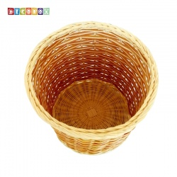 DecoBox自然風藤編小收納桶(垃圾桶, 盆套,法國麵包盤,備品籃,收納雜物)