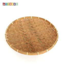 DecoBox日曬用薄竹盤(35公分-5個)(竹編織盤.乾阿.湯圓篩.洗菜籃.黑蒜頭.竹篩)
