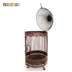 DecoBox巴洛克古銅大鳥籠花架(鳥籠,園藝,花台,花插,鍛鐵展示架)