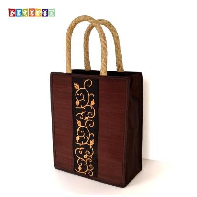 DecoBox素雅暗金刺繡包