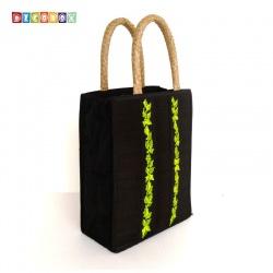DecoBox素雅墨綠刺繡包