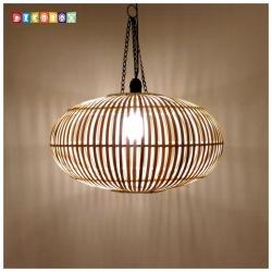 DecoBox中國風原色竹燈罩(46公分)-不含燈泡線材,宴王