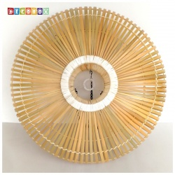 DecoBox中國風原色竹燈罩(55公分)-不含燈泡線材,宴王