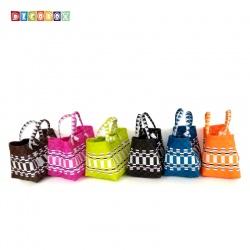 DecoBox波希米亞短提環保小餐包(2個)(購物袋,野餐.手工編織包)