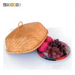 MS正方竹編煙薰桌罩(33*33公分)(宴王.燈罩.露營食物罩,野餐)