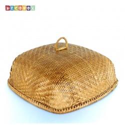 MS正方竹編煙薰桌罩(45*45公分)(宴王.燈罩.露營食物罩,野餐)