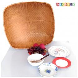 MS正方竹編煙薰桌罩(65*65公分)(宴王.燈罩.露營食物罩,野餐)