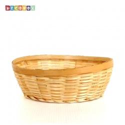 DecoBox竹編中橢圓麵包盤(10個)(瓜子盤, 竹籃)