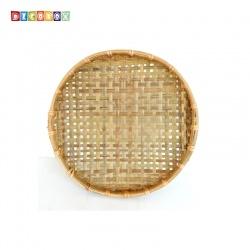DecoBox手工厚竹篩(直徑50高5.5 - 1個)(抓週竹盤,搖元宵,搓湯圓,柑阿,乾阿,米苔,米篩)