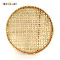 DecoBox手工厚竹篩(直徑55高6 - 1個)(抓週竹盤,搖元宵,搓湯圓,柑阿,乾阿,米苔,米篩)