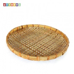 DecoBox手工厚竹篩(直徑60高6 - 1個)(抓週竹盤,搖元宵,搓湯圓,柑阿,乾阿,米苔,米篩)