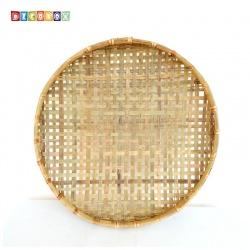 DecoBox手工厚竹篩(直徑65高7 - 1個)(抓週竹盤,搖元宵,搓湯圓,柑阿,乾阿,米苔,米篩)