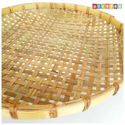 DecoBox手工厚竹篩(直徑72高7.5 - 1個)(抓週竹盤,搖元宵,搓湯圓,柑阿,乾阿,米苔,米篩)