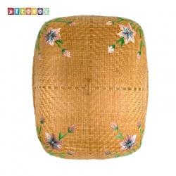 MS長方形竹編繡花桌罩(60*75公分)(宴王.燈罩.露營食物罩,野餐)