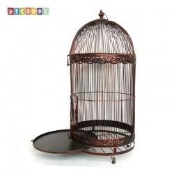 DecoBox巴洛克古銅巨型鳥籠花架(鳥籠,園藝,花台,多肉防鳥花架,鍛鐵展示架)