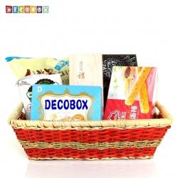 DecoBox鄉村風海草長方盒(2個)(拖鞋籃, 備品籃, 收納雜物籃)