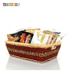 DecoBox田園風海草長方盒(2個)(拖鞋籃, 備品籃, 收納雜物籃)