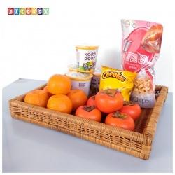 DecoBox普羅旺斯中長方麵包盤(44*37-2個)(拖鞋籃, 備品籃, 收納雜物籃)