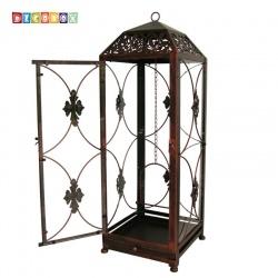 DecoBox鄉村風-地中海大燭台花架( 金屬燭台.多肉防鳥花架,玻璃鳥籠.lantern)