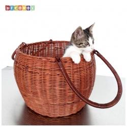 DecoBox休閒風圓筒大藤籃 (宴王,野餐, 洗衣藍,收納籃,雞蛋籃)