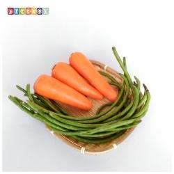 DecoBox精緻方形淺竹盤(21高3公分-5個)(竹編織盤.乾阿.湯圓篩.洗菜籃.黑蒜頭.竹篩)
